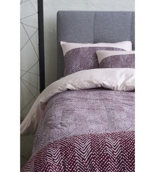 esprit bettw sche tamo 200x210 2x 65x65cm red. Black Bedroom Furniture Sets. Home Design Ideas