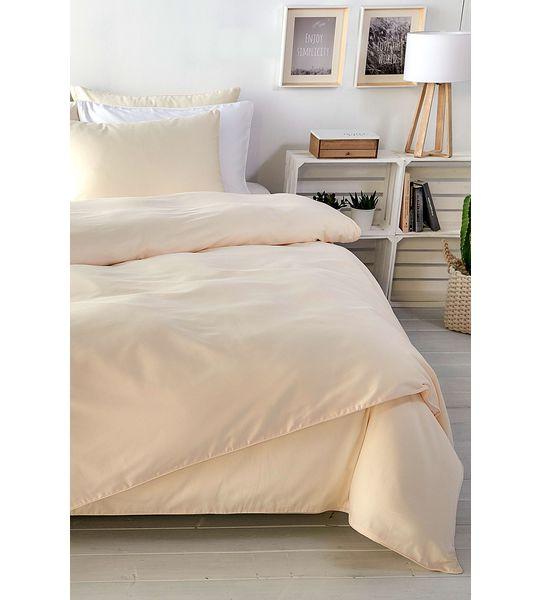 uni satin duvetbezug 160x210cm beige bettw sche fixleint cher moltons frotteew sche. Black Bedroom Furniture Sets. Home Design Ideas