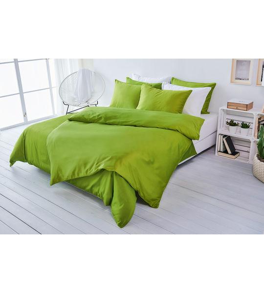 living home uni satin bettw sche gr n bettw sche fixleint cher moltons frotteew sche. Black Bedroom Furniture Sets. Home Design Ideas