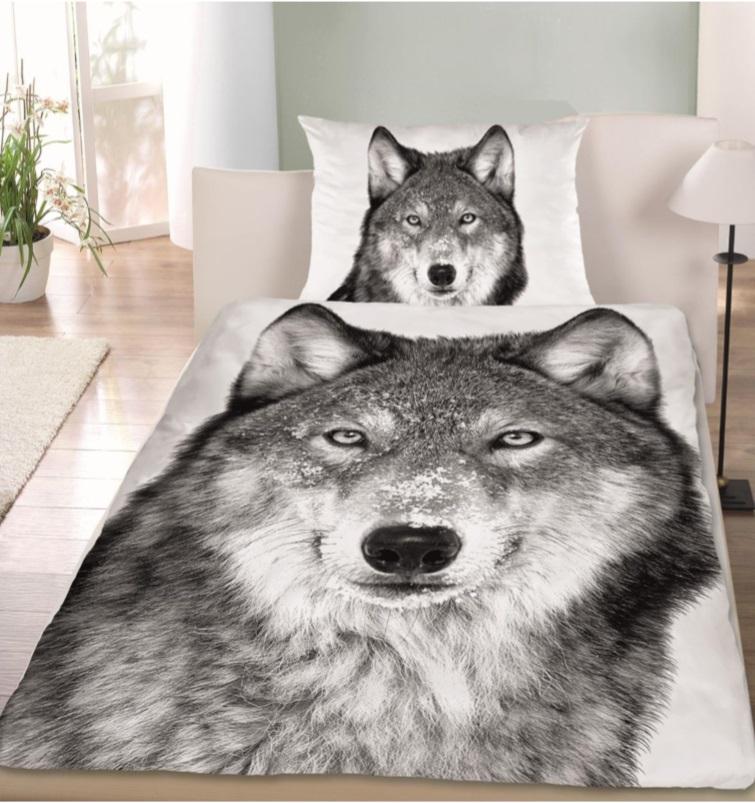 renforc bettw sche wolf 100 baumwolle mit knopfverschluss bettw sche fixleint cher. Black Bedroom Furniture Sets. Home Design Ideas