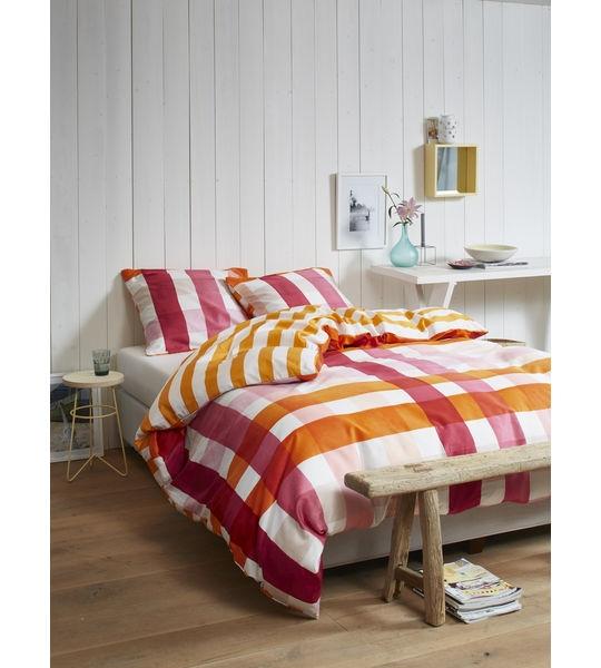 esprit bettw sche sun check 160x210 65x100cm red. Black Bedroom Furniture Sets. Home Design Ideas