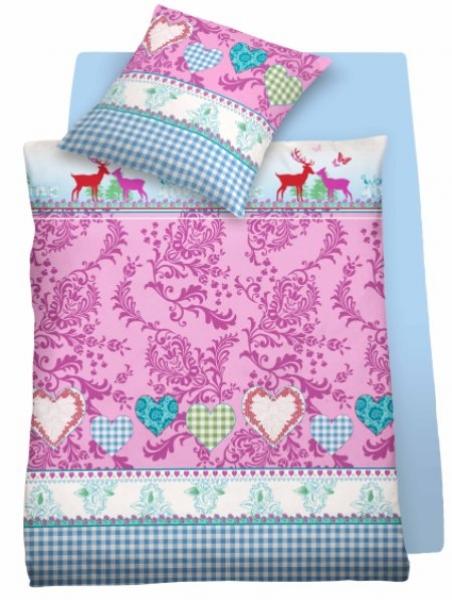 satin bettw sche pink lady 100 baumwolle mit reissverschluss bettw sche fixleint cher. Black Bedroom Furniture Sets. Home Design Ideas