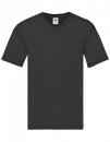 T-Shirt, V-Ausschnitt, Fruit of the Loom black